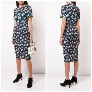 Yigal Azrouel Floral Print Dress with Grommets